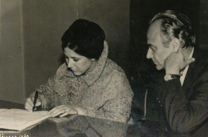 Afet ve Rıfat Ilgaz'ın Nikah Fotoğrafı